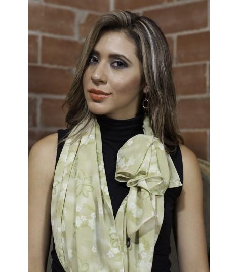 Pashmina Pistachio Flores